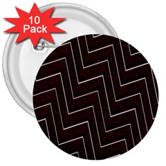 Lines Pattern Square Blocky 3  Buttons (10 Pack)