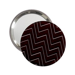 Lines Pattern Square Blocky 2 25  Handbag Mirrors