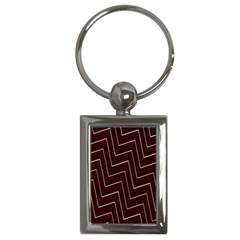 Lines Pattern Square Blocky Key Chains (rectangle)