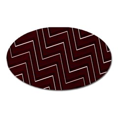 Lines Pattern Square Blocky Oval Magnet