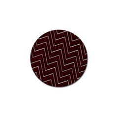 Lines Pattern Square Blocky Golf Ball Marker (10 pack)