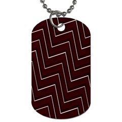 Lines Pattern Square Blocky Dog Tag (two Sides)