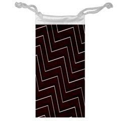 Lines Pattern Square Blocky Jewelry Bag