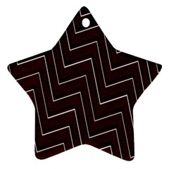 Lines Pattern Square Blocky Star Ornament (two Sides)