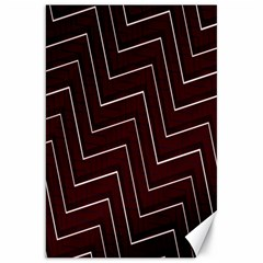 Lines Pattern Square Blocky Canvas 20  X 30