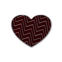 Lines Pattern Square Blocky Rubber Coaster (heart)