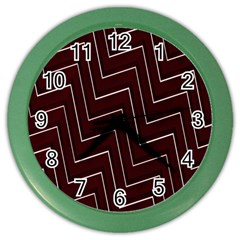 Lines Pattern Square Blocky Color Wall Clocks