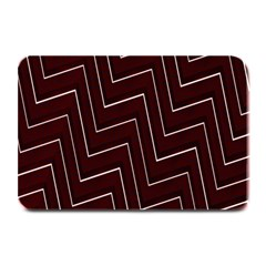 Lines Pattern Square Blocky Plate Mats