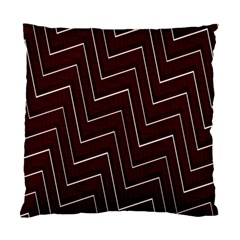 Lines Pattern Square Blocky Standard Cushion Case (one Side)