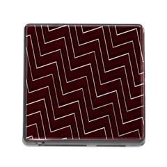 Lines Pattern Square Blocky Memory Card Reader (square)