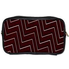 Lines Pattern Square Blocky Toiletries Bags