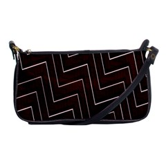 Lines Pattern Square Blocky Shoulder Clutch Bags