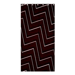 Lines Pattern Square Blocky Shower Curtain 36  X 72  (stall)