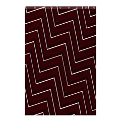 Lines Pattern Square Blocky Shower Curtain 48  x 72  (Small)