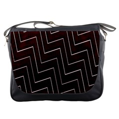 Lines Pattern Square Blocky Messenger Bags
