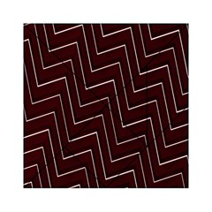 Lines Pattern Square Blocky Acrylic Tangram Puzzle (6  x 6 )