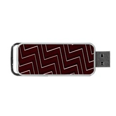 Lines Pattern Square Blocky Portable USB Flash (One Side)
