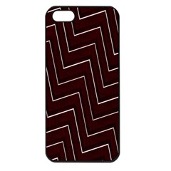 Lines Pattern Square Blocky Apple iPhone 5 Seamless Case (Black)