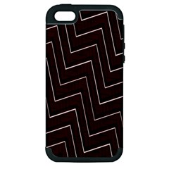 Lines Pattern Square Blocky Apple iPhone 5 Hardshell Case (PC+Silicone)