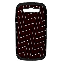 Lines Pattern Square Blocky Samsung Galaxy S III Hardshell Case (PC+Silicone)