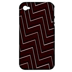 Lines Pattern Square Blocky Apple iPhone 4/4S Hardshell Case (PC+Silicone)