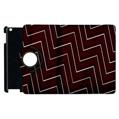 Lines Pattern Square Blocky Apple iPad 2 Flip 360 Case