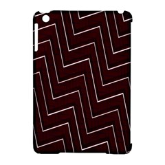 Lines Pattern Square Blocky Apple Ipad Mini Hardshell Case (compatible With Smart Cover)
