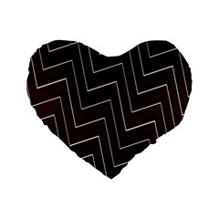 Lines Pattern Square Blocky Standard 16  Premium Heart Shape Cushions