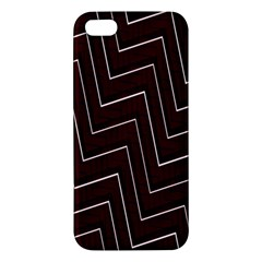 Lines Pattern Square Blocky Apple iPhone 5 Premium Hardshell Case