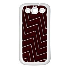 Lines Pattern Square Blocky Samsung Galaxy S3 Back Case (White)