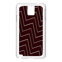 Lines Pattern Square Blocky Samsung Galaxy Note 3 N9005 Case (white)