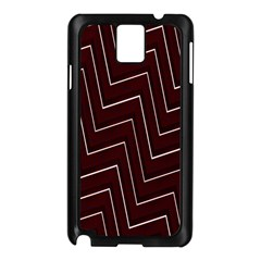 Lines Pattern Square Blocky Samsung Galaxy Note 3 N9005 Case (black)