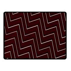 Lines Pattern Square Blocky Double Sided Fleece Blanket (Small)