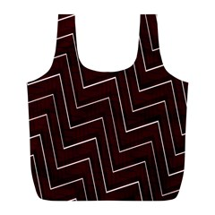 Lines Pattern Square Blocky Full Print Recycle Bags (L)