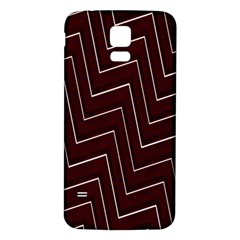 Lines Pattern Square Blocky Samsung Galaxy S5 Back Case (White)