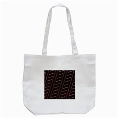 Lines Pattern Square Blocky Tote Bag (White)