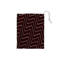 Lines Pattern Square Blocky Drawstring Pouches (small)