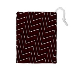 Lines Pattern Square Blocky Drawstring Pouches (Large)