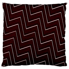 Lines Pattern Square Blocky Large Flano Cushion Case (One Side)