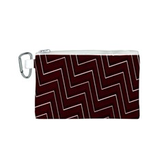 Lines Pattern Square Blocky Canvas Cosmetic Bag (S)