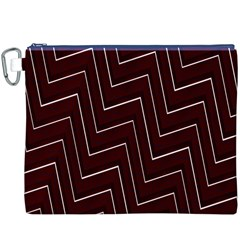 Lines Pattern Square Blocky Canvas Cosmetic Bag (xxxl)