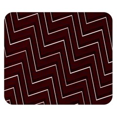 Lines Pattern Square Blocky Double Sided Flano Blanket (Small)