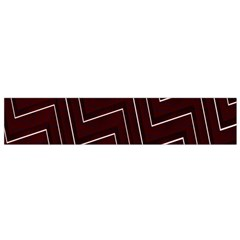 Lines Pattern Square Blocky Flano Scarf (Small)
