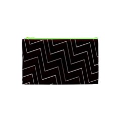 Lines Pattern Square Blocky Cosmetic Bag (XS)