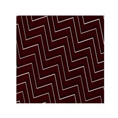 Lines Pattern Square Blocky Small Satin Scarf (Square)