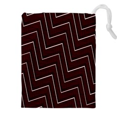 Lines Pattern Square Blocky Drawstring Pouches (xxl)