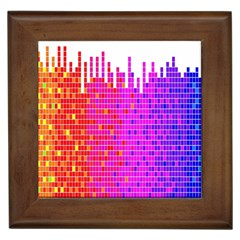 Square Spectrum Abstract Framed Tiles