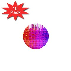 Square Spectrum Abstract 1  Mini Buttons (10 Pack)