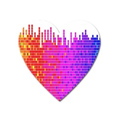 Square Spectrum Abstract Heart Magnet