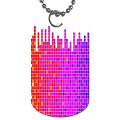 Square Spectrum Abstract Dog Tag (Two Sides)